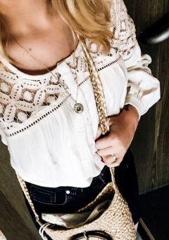 Fashion haut dentelle coton kiabi