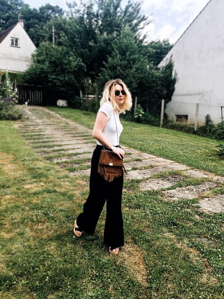 Fashion pantalon évasé fluide bershka