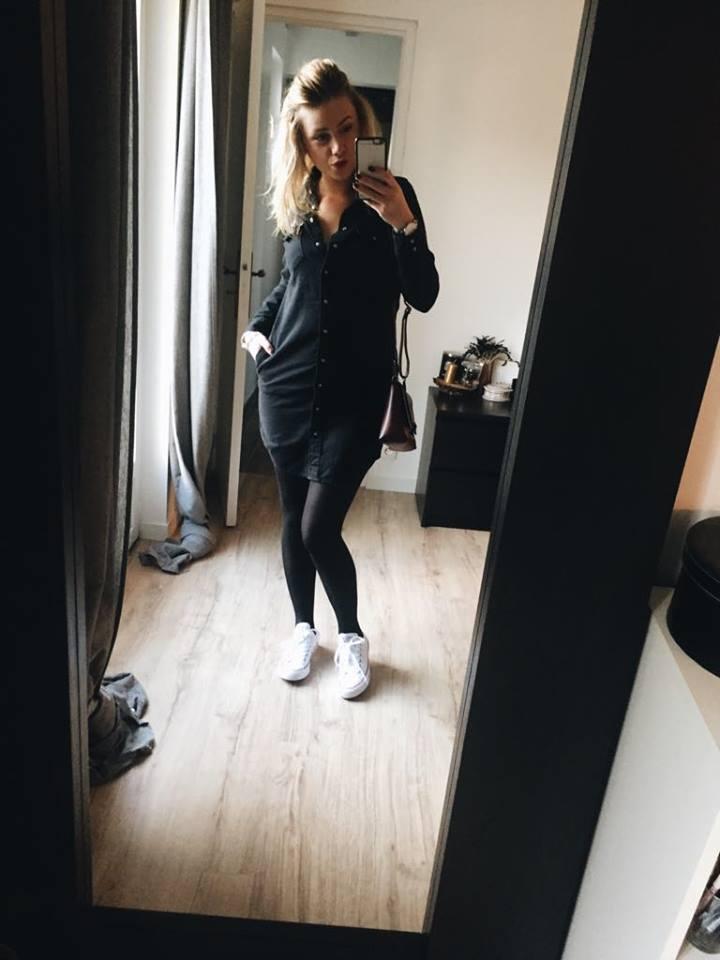 Fashion robe chemise jeans noire Levis