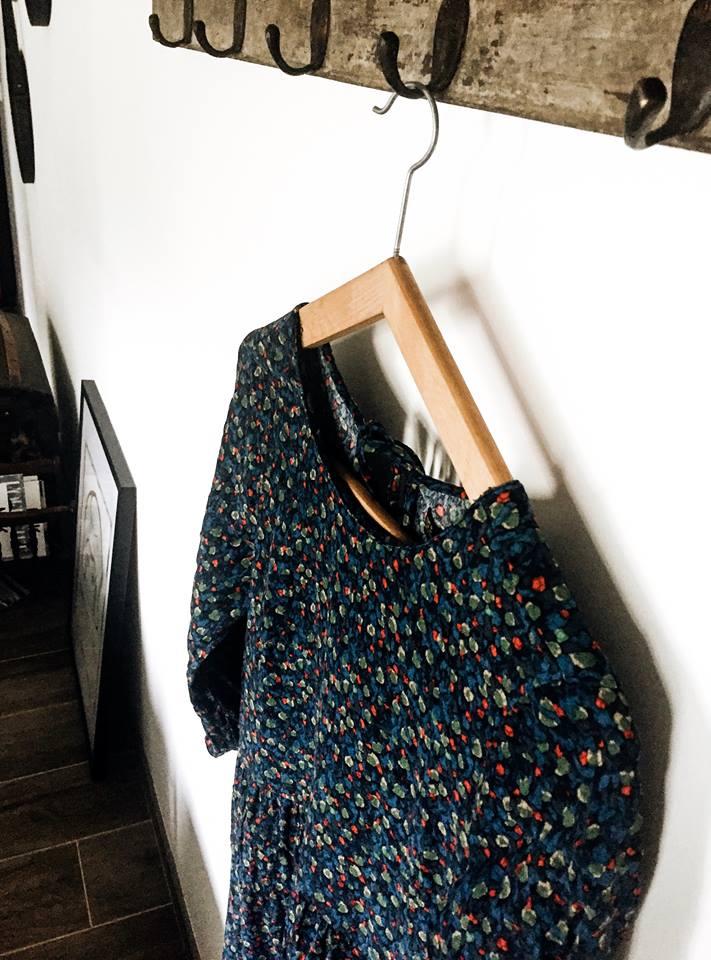 Fashion robe fleurs multicolors