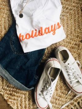 Fashion short jeans zara teeshirt camaieu