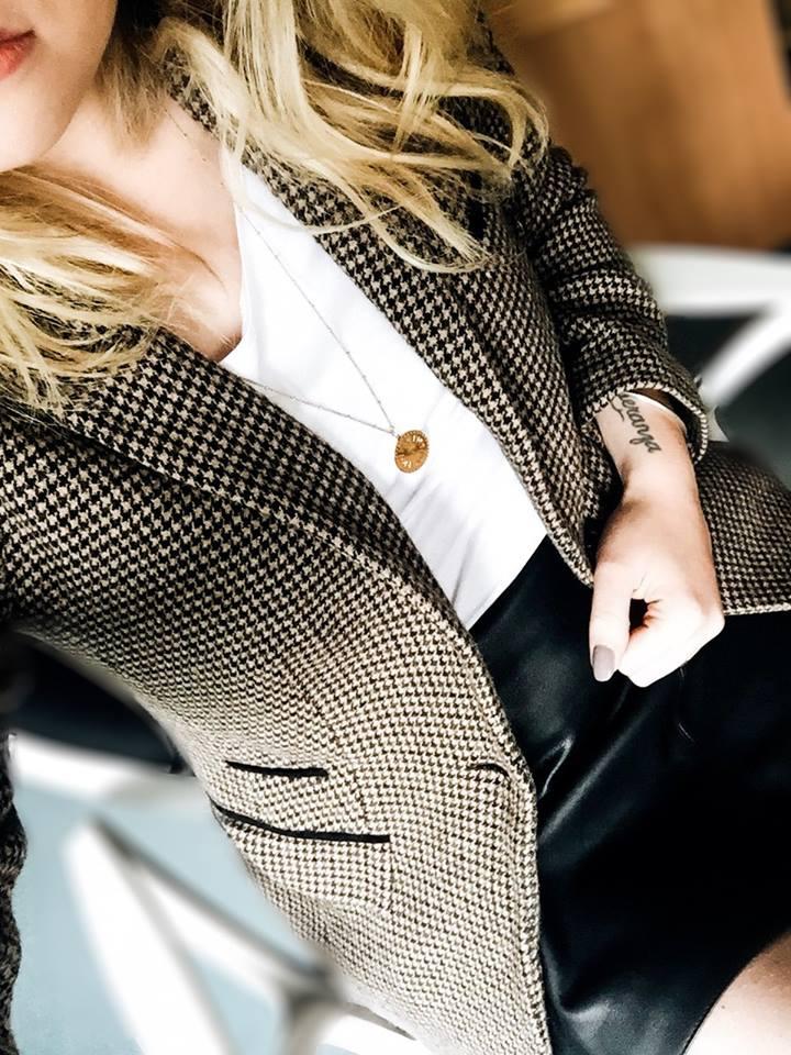 Fashion veste pied de poule gerard darel