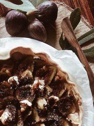 Tarte aux figues chèvre food recette 1